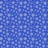 Modello blu dei fiocchi di neve di Natale Immagini Stock Libere da Diritti