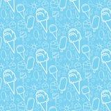 Modello blu del gelato Fotografia Stock Libera da Diritti