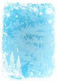 Modello blu del ghiaccio di lerciume del fondo Illustrazione di vettore Fotografie Stock