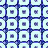 Modello blu del reticolato Fotografia Stock