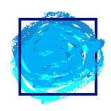 Modello blu dell'aletta di filatoio Fotografia Stock Libera da Diritti