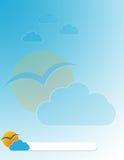 Modello blu dell'opuscolo illustrazione di stock
