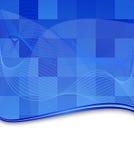 Modello blu della priorità bassa delle mattonelle Immagini Stock