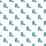 Modello blu della scarpa della donna senza cuciture royalty illustrazione gratis