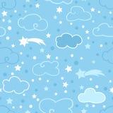 Modello blu delle nuvole Fotografia Stock