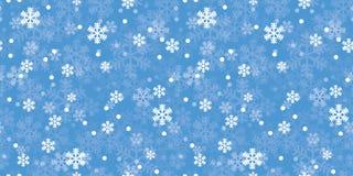 Modello blu di ripetizione dei fiocchi di neve di Natale illustrazione vettoriale