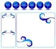 Modello blu di Web site Fotografia Stock Libera da Diritti