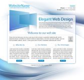 Modello blu di Web site di affari Immagine Stock