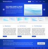 Modello blu di Web site di affari Immagine Stock Libera da Diritti