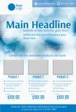 Modello blu e bianco dell'aletta di filatoio del prodotto Fotografie Stock Libere da Diritti