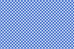 Modello blu e bianco della tovaglia, struttura dal rombo/quadrati per - il plaid, tovaglie, vestiti, camice, vestiti, carta, illustrazione vettoriale