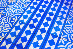 Modello blu e bianco orientale Fotografia Stock
