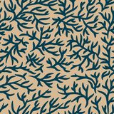 Modello blu e marrone chiaro dei rami Effetto incrinato Priorit? bassa senza giunte di vettore Per tessuto, tessuto, progettazion illustrazione vettoriale