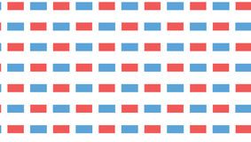 Modello blu e rosso semplice di rettangolo Fotografia Stock Libera da Diritti