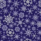 Modello blu eps10 dei fiocchi di neve Illustrazione Vettoriale