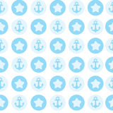 Modello blu l'ancora per il tessuto o la carta Fotografia Stock Libera da Diritti