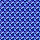 Modello blu senza cuciture con i cerchi Immagini Stock Libere da Diritti