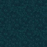 Modello blu senza cuciture del pizzo Fotografia Stock Libera da Diritti