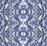 Modello blu senza cuciture della neve Fotografie Stock Libere da Diritti