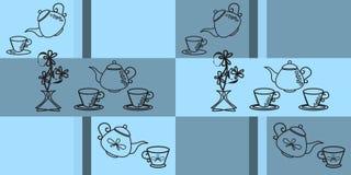 Modello blu senza cuciture per la cucina Immagine Stock