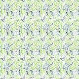 Modello blu verde chiaro dell'acquerello royalty illustrazione gratis