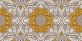 Modello caleidoscopico dell'oro e di beige Fotografia Stock Libera da Diritti