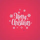 Modello calligrafico della carta di progettazione di iscrizione del testo di Buon Natale Immagini Stock Libere da Diritti