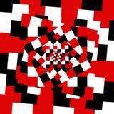 Modello caotico dei quadrati variopinti Immagine Stock