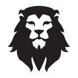 Modello capo di logo del leone Segno selvaggio animale del grafico del fronte del gatto Orgoglio, forte, simbolo di concetto di p royalty illustrazione gratis
