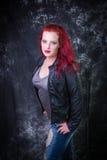 Modello capo rosso Fotografia Stock Libera da Diritti
