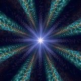 Modello casuale radiale dell'estratto della luce della stella Fotografie Stock