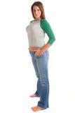 Modello casuale su bianco Fotografie Stock