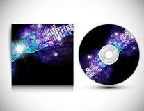 Modello CD di disegno del coperchio. Immagini Stock