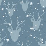 Modello, cervi e neve senza cuciture royalty illustrazione gratis
