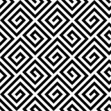 Modello chiave del cerchio greco senza cuciture in bianco e nero Fotografie Stock