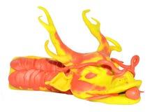 Modello cinese del plasticine del drago Fotografie Stock Libere da Diritti