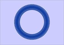 Modello circolare del bordo del blu Fotografie Stock Libere da Diritti