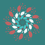 Modello circolare delle foglie Immagini Stock Libere da Diritti