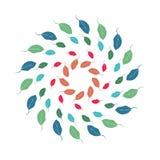 Modello circolare delle foglie Immagine Stock