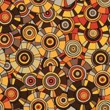 Modello circolare e tribale con i motivi delle tribù africane Surma e Mursi Fotografia Stock Libera da Diritti