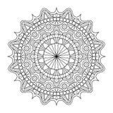 Modello circolare nella forma di mandala per hennè, Mehndi, tatuaggio, decorazione Ornamento decorativo nello stile orientale etn illustrazione di stock