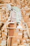 Modello circostante del sito per la presentazione architettonica Immagini Stock