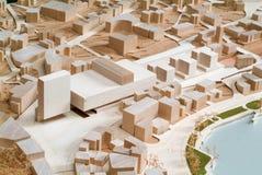 Modello circostante del sito per la presentazione architettonica Immagine Stock