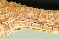 Modello circostante del sito per la presentazione architettonica Fotografia Stock