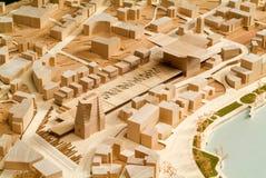 Modello circostante del sito per la presentazione architettonica Immagine Stock Libera da Diritti