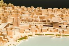 Modello circostante del sito per la presentazione architettonica Fotografie Stock