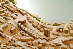 Modello circostante del sito per la presentazione architettonica Fotografie Stock Libere da Diritti