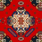 Modello classico del tappeto della parete Fotografia Stock