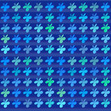 Modello colorato del fondo di vettore dei trifogli Immagine Stock