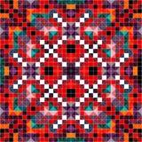 Modello colorato del pixel nella retro illustrazione di vettore di stile Immagini Stock